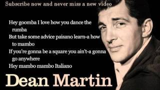 Dean Martin Mambo Italiano Lyrics
