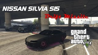 Nissan Silvia S15 Drift Missile - GTA 5 Gameplay & First Look - PC MODS!