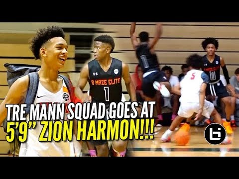 "TRE MANN SQUAD WENT AT 5'9"" ZION HARMON! Ballislife Highlights"