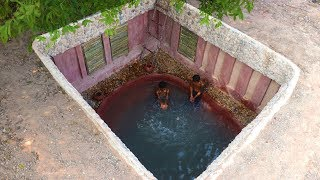 Dig To Build Swimming Pool In Front of Secret Underground House