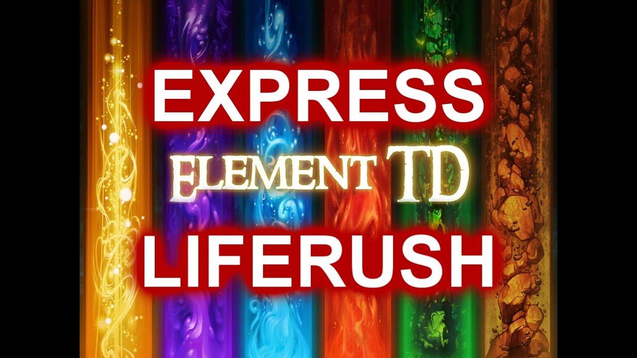 ELEMENT TD! | EXPRESS CHAOS LIFE TOWER RUSH! | DOTA 2 REBORN MOD