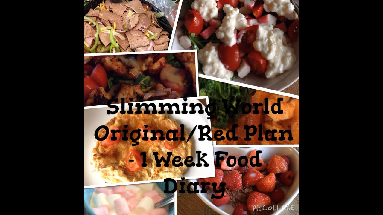 Slimming world friendly virtual food diary one weeks original or slimming world friendly virtual food diary one weeks original or red plan freerunsca Images