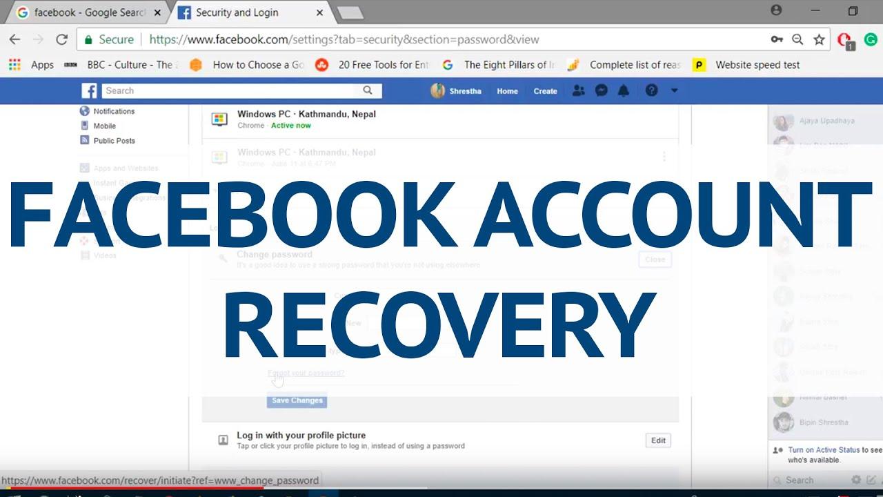 Wwwfacebookcom Recover Facebook Account Reset Facebook