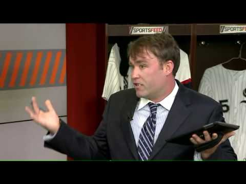 White Sox writer battles a piece of gum during live TV interview - YouTube