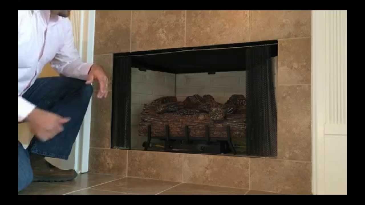 Fireplace Operation - Monessen Log Burner - YouTube
