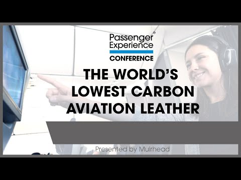 The worlds lowest carbon aviation leather