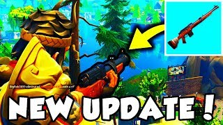 HUNTING RIFLE GLITCH getting FIXED + JETPACK on FORTNITE BATTLE ROYALE! 100% ACCURACY HUNTING RIFLE!