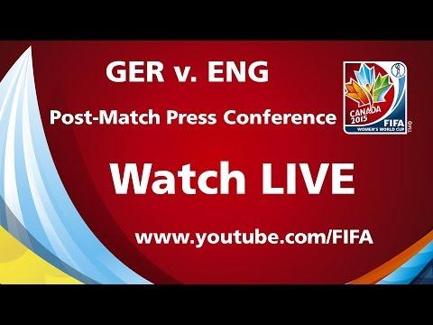 Germany v. England - Post-Match Press Conference
