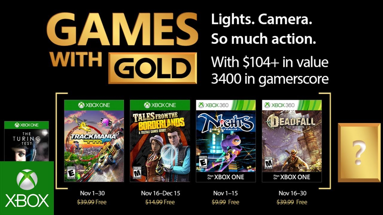 Xbox Gold Games November 2020.Xbox Games With Gold For November Led By Tales From The