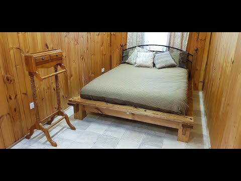 DIY solid wood platform bed