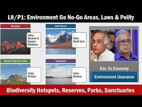 L8/P1: Environment- Biodiversity Hotspots, Go No-Go areas, law & Polity angles