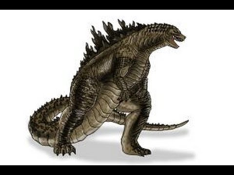 How to draw godzilla 2014 youtube