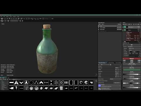 Bottle and Twine Design Timelapse