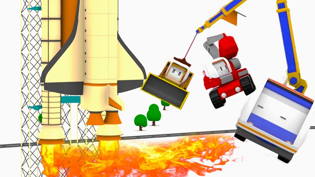 the-speeding-reactor-plane-learn-with-tiny-trucks-bulldozer-crane-excavator-educational-cartoon