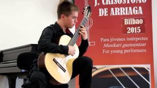 Pablo Cabré. Rondó sonata Hje A. Segovia (A. García Palao) Concurso Arriaga 2015 Bilbao