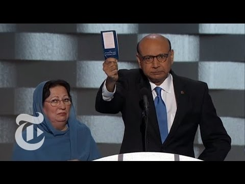 Fallen Soldier's Father Gives Touching Endorsement | Democratic Convention | The New York Times