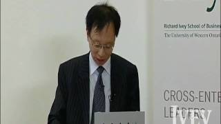 Yuen Pau Woo discusses the changing positioning of Asia in national media, Triggs Lecture '09