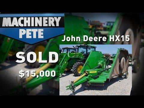 Machinery Pete Talks John Deere HX15 Batwing Mower Values