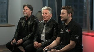 Three Generations of Andretti's Predict Indy 500 While Playing Mario's Classic Sega Game thumbnail