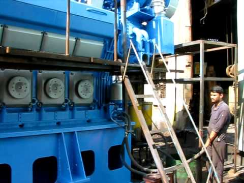 wartsila engine first start after painting youtube rh youtube com