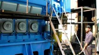 WARTSILA ENGINE FIRST START AFTER PAINTING