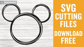 Mickey Mouse Outline Svg Free Cutting Files for Silhouette Free Download