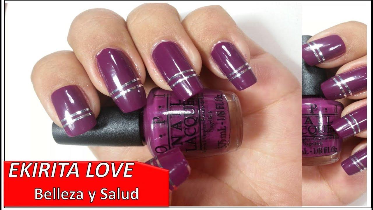 haul, esmaltes OPI COCA COLA, color morado, manicure con diseño ...