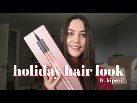 HOLIDAY HAIR TUTORIAL ft. KIPOZI 2-in-1 STRAIGHTENER ✨‍♀️