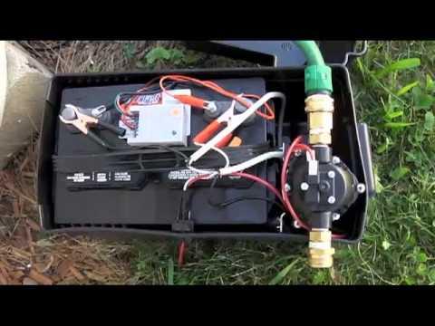 Solar Rain Barrel Pump