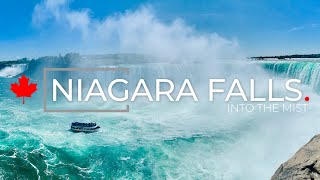 The Niagara falls by boat, Canada