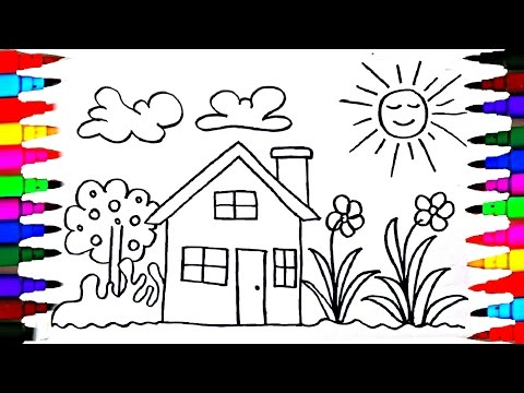 Learn to Draw and Coloring Kids Playhouse - Coloring Pages - Videos for Children - Learning Colors