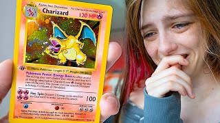 My girlfriend pulls $35,000 Charizard then cries when I tell her it's a prank