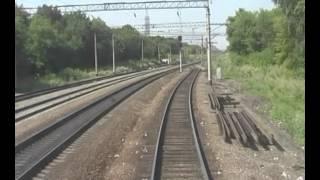 Ртищево-Лиски. Вид из кабины электровоза ЧС4(, 2016-04-20T01:45:09.000Z)