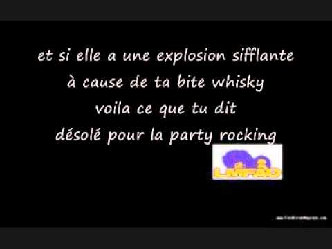 lmfao traduction de sorry for party rocking youtube. Black Bedroom Furniture Sets. Home Design Ideas
