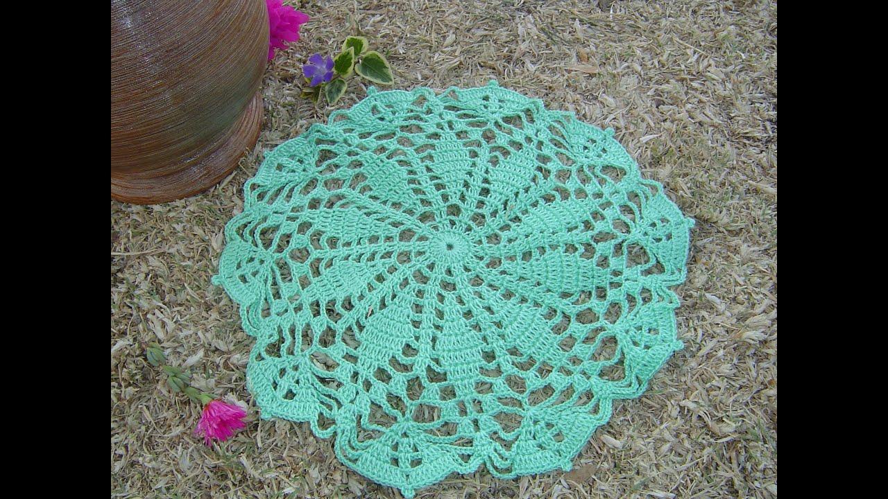 Como hacer tapete a crochet paso a paso parte 1 3 for Construir piscina natural paso a paso