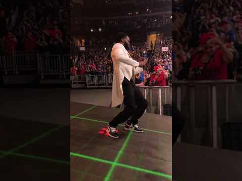 Nakamura Debut live from Amway center arena view