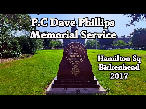 PC Dave Phillips Memorial Stone Service Hamilton Square, Wirral 12-10-17