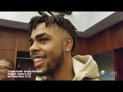 D'Angelo Russell Postgame Presser: Nets Defeat Knicks 117-83 | What's The 411Sports | Brooklyn Nets