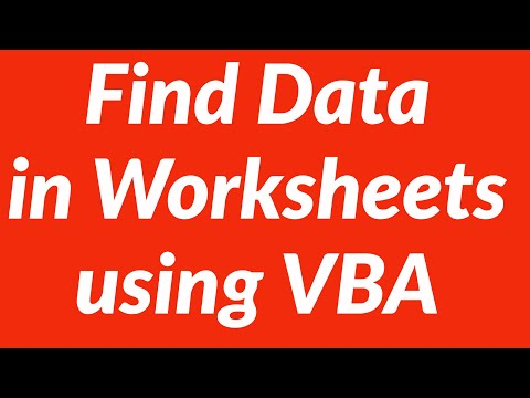 Find Data In Specific Cells In Multiple Worksheets Using Vba