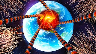 "I Launched 100,000 Nukes to ""Save"" Earth from Giant Space Worms in Solar Smash!"