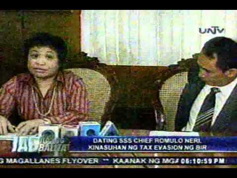 iab dating sss chief romulo neri, kinasuhan ng tax evasion ng bir.flv