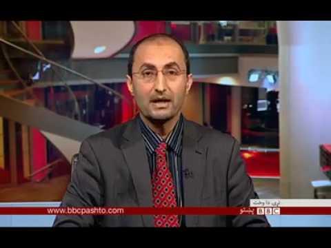 Mehmood khan Achakzai giving interview to BBC pashto london