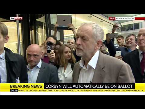 Jeremy Corbyn Speaks After Vote Decides He Will Be On Leadership Ballot