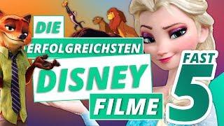 Die erfolgreichsten animierten DISNEY FILME | Fast 5