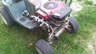 v 8 exhaust on hot rod mower briggs twin 20 hp