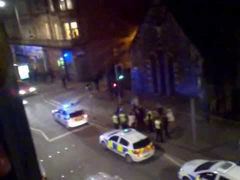 fight on Easter road after hibs vs. hearts game