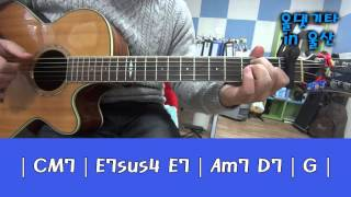 EXO - Sing for you ( Guitar tutorial 1 )