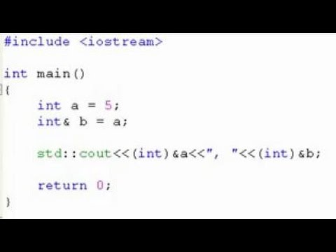 C++ Programming tutorial: Reference variable