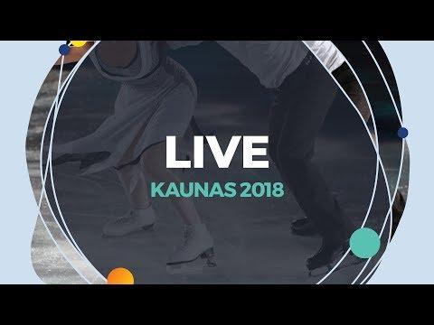 LIVE 🔴   Ice Dance Rhythm Dance   Kaunas  2018