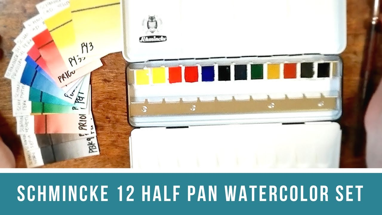 Schmincke Watercolor Review Part 1 A Look At Pigment Numbers